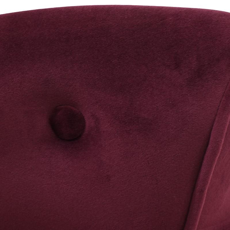 Кадифен стол с ниска облегалка - отблизо