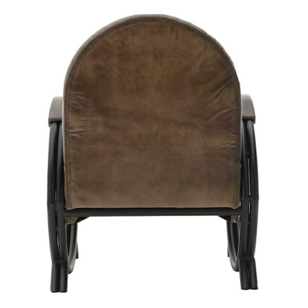 Кожено кресло с метални крака - отзад