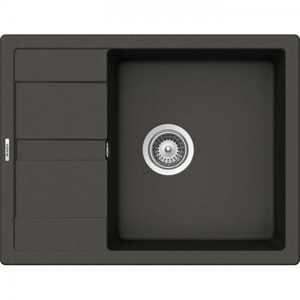 Компактна мивка от гранит SCHOCK Ronda D100L - цвят Asphalt