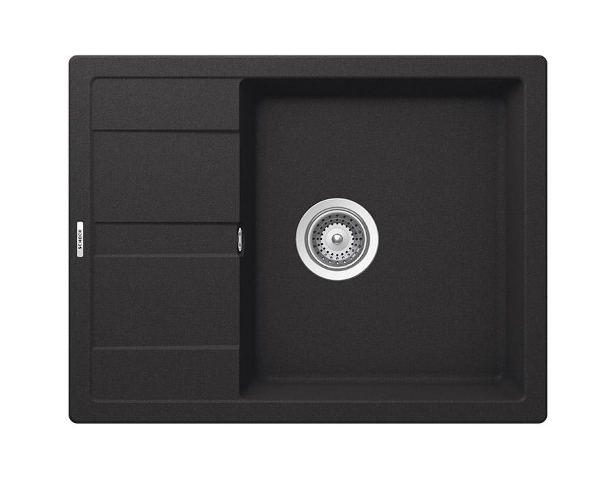 Компактна мивка от гранит SCHOCK Ronda D100L - цвят Onyx