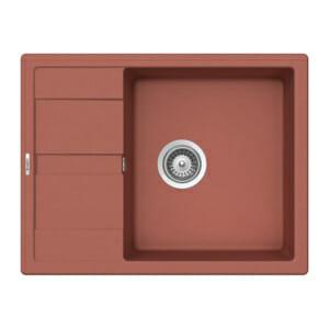 Компактна оранжева мивка от гранит SCHOCK Ronda D100L цвят Canyon