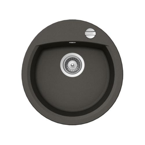Кръгла мивка за кухня от гранит SCHOCK Manhattan R100 цвят Asphalt