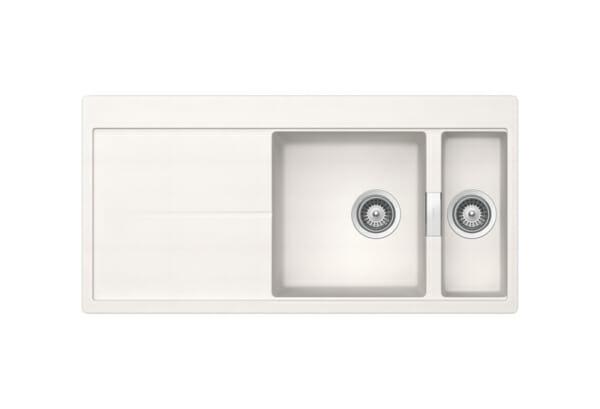 Луксозна бяла мивка от гранит SCHOCK Horizont D150 (цвят Polaris)