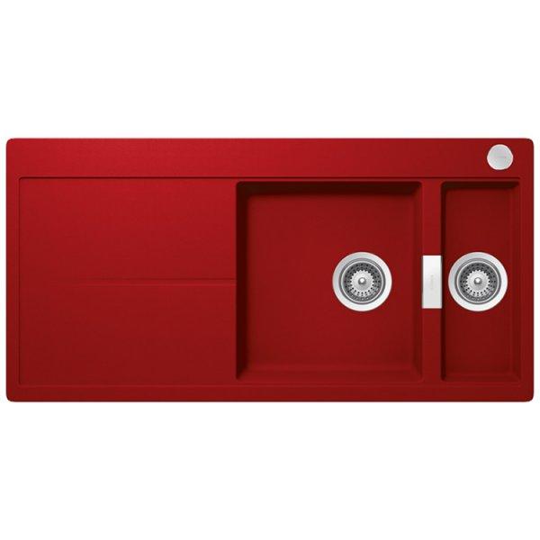 Червена мивка от гранит SCHOCK Horizont D150 (цвят Rouge)