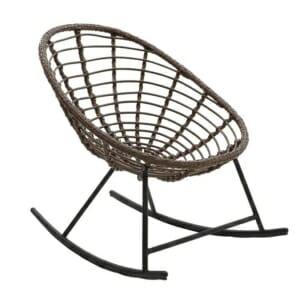 Люлеещ се стол с ратанова седалка