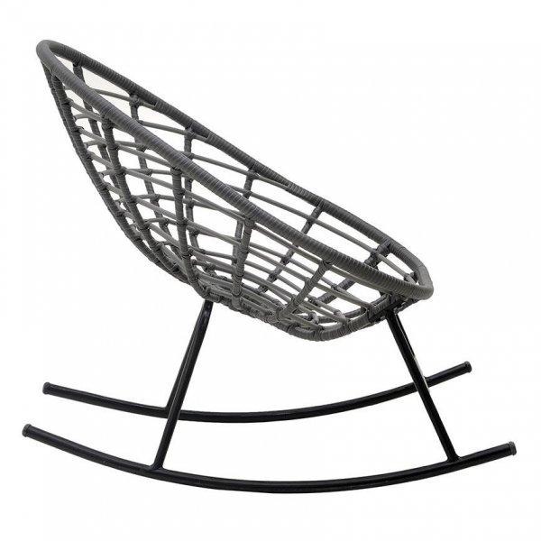 Люлеещ се стол с ратанова седалка - отстрани