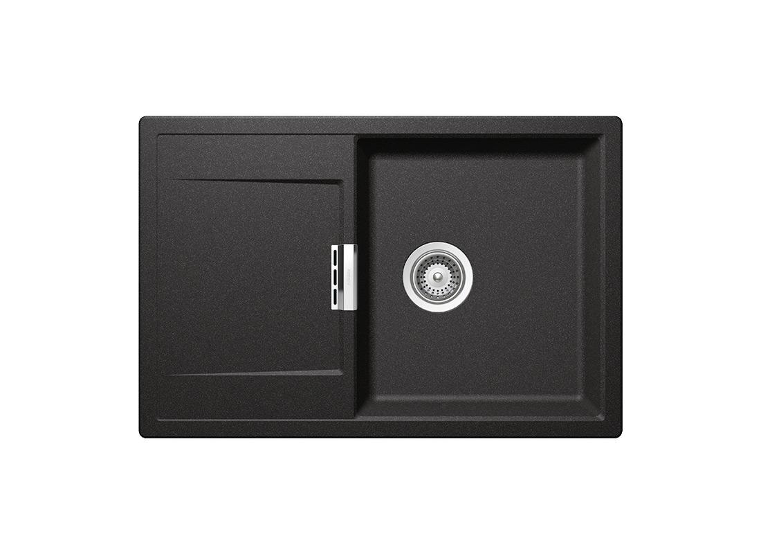 Черна мивка от гранит SCHOCK MONO D100, цвят Stone