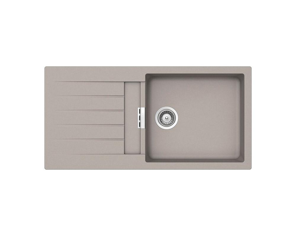Сива мивка от гранит SCHOCK Primus D100L - цвят Beton