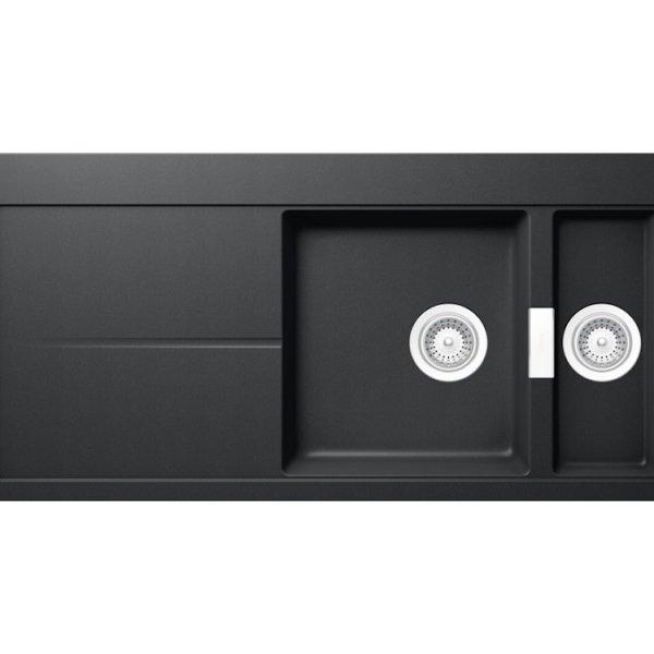 Луксозна черна мивка от гранит SCHOCK Horizont D150 (цвят Puro)