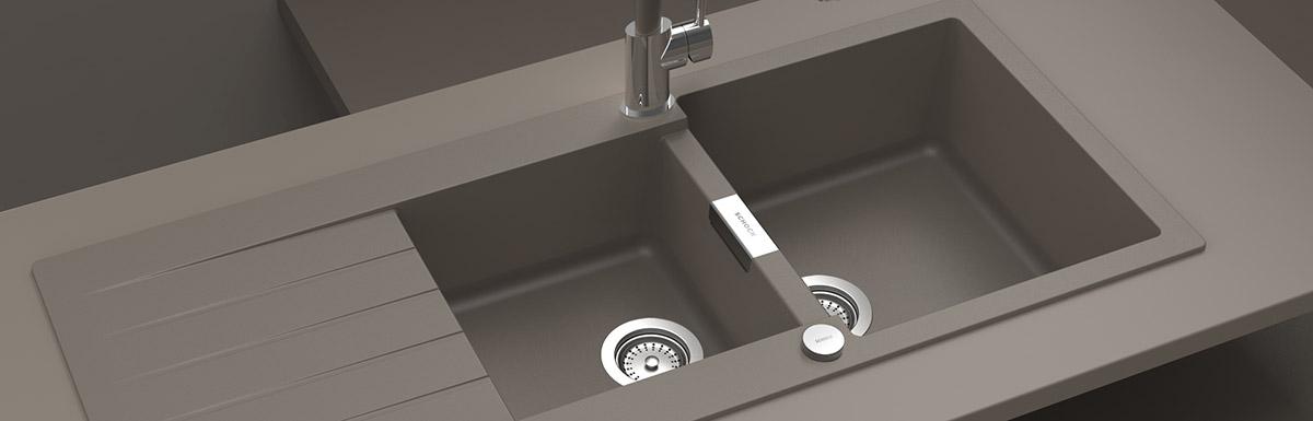 Гранитна мивка с две корита SCHOCK Signus D200 - монтирана