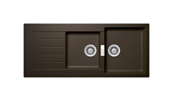 Гранитна мивка с две корита SCHOCK Signus D200 цвят Bronze