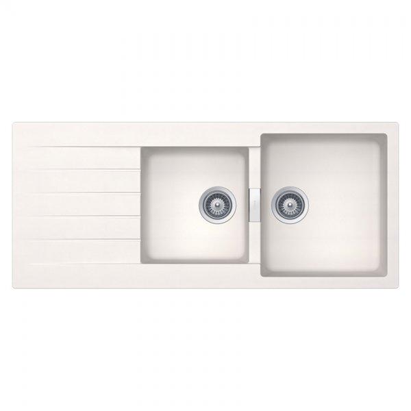 Бяла мивка с две корита SCHOCK Signus D200 (цвят Polaris)