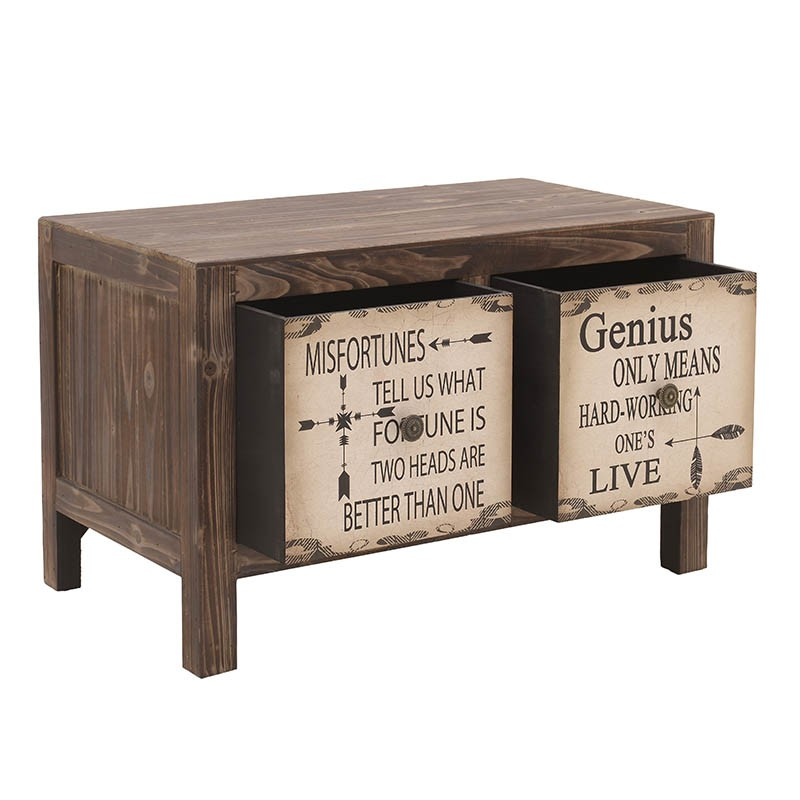 Нисък дървен шкаф с чекмеджета