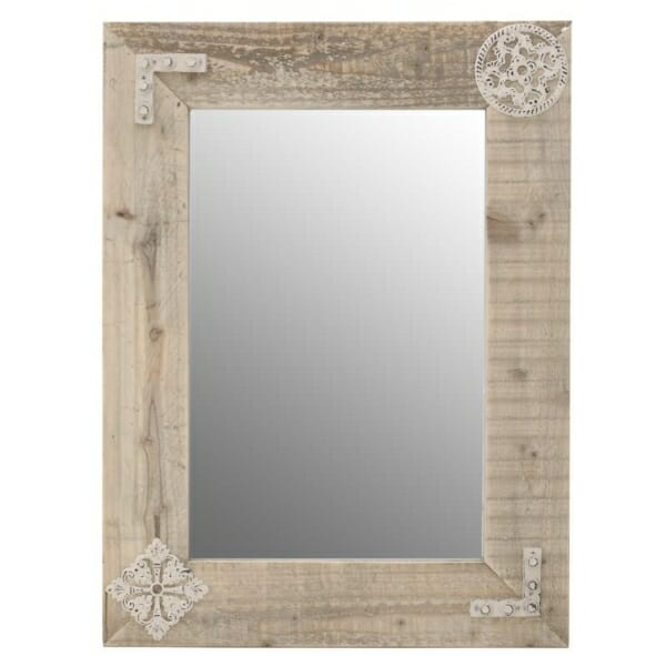 Огледало за стена с дървена рамка
