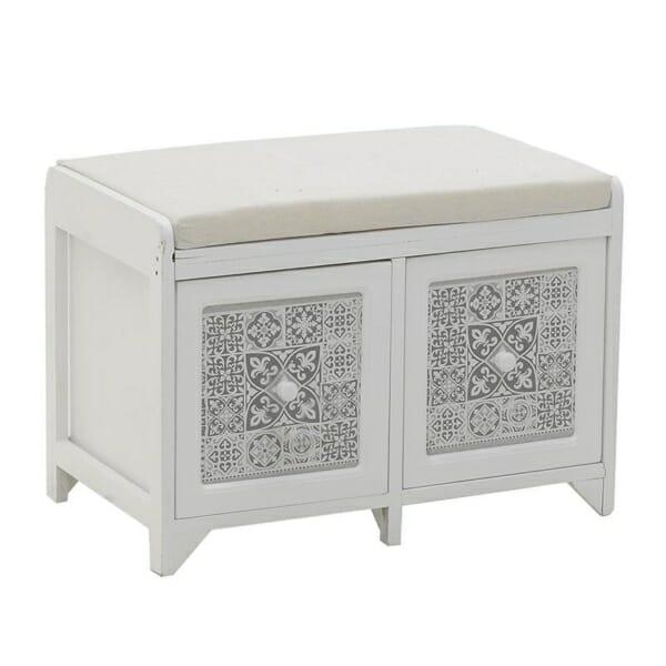 Пейка с 2 шкафчета в бяло