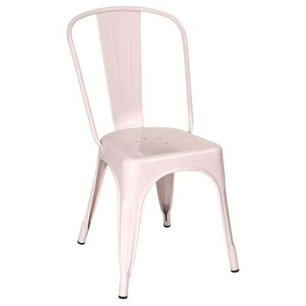 Розов метален стол