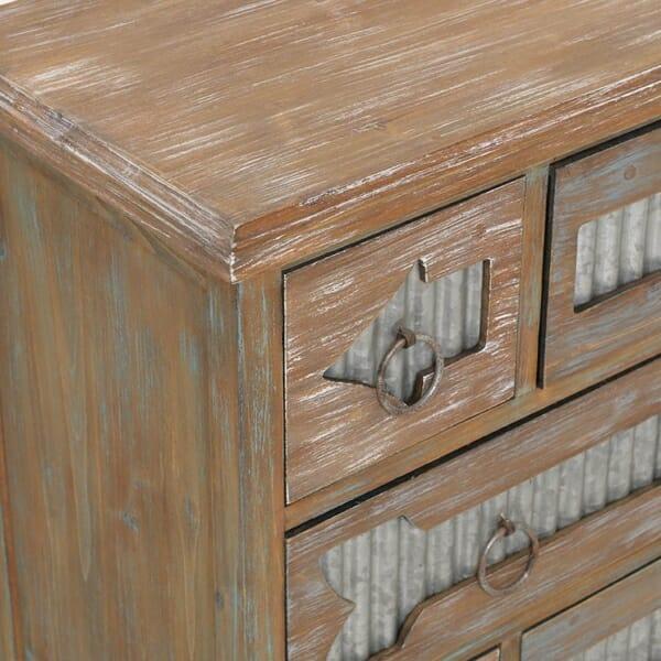 Състарен дървен скрин от бреза