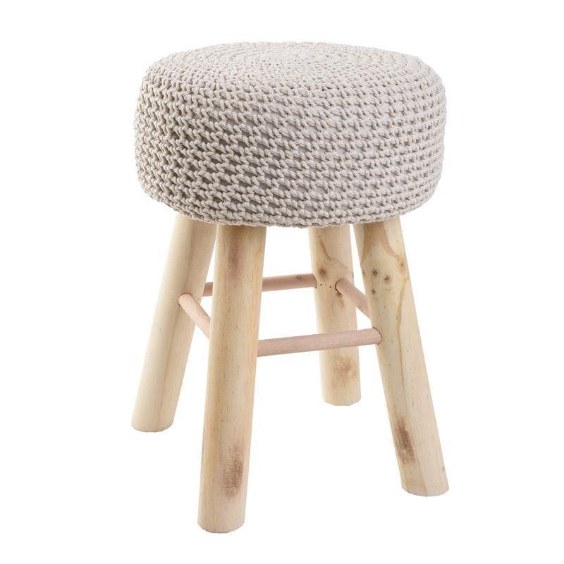 Табуретка с плетена седалка