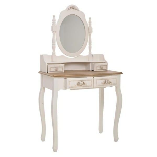 Тоалетна масичка с чекмеджета и огледало