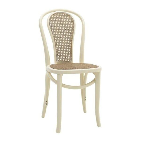 Трапезен стол от дърво и ратан
