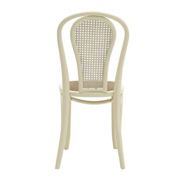 Трапезен стол от дърво и ратан - отзад