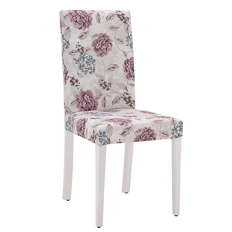 Трапезен стол с флорални мотиви