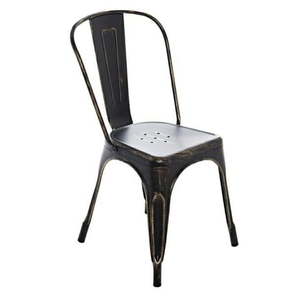 Черен метален стол
