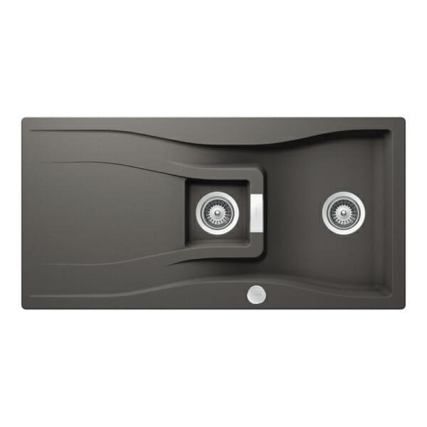 Гранитна мивка SCHOCK WATERFALL D150 - цвят silverstone