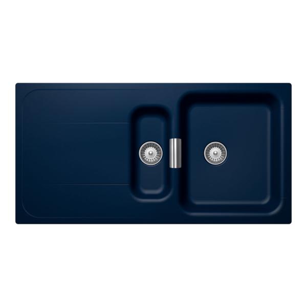 Тъмно синя гранитна мивка Wembley D150 - цвят Millennial dive