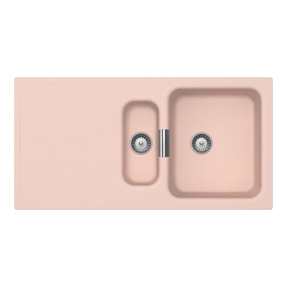 Розова гранитна мивка Wembley D150 - цвят Millennial pearl