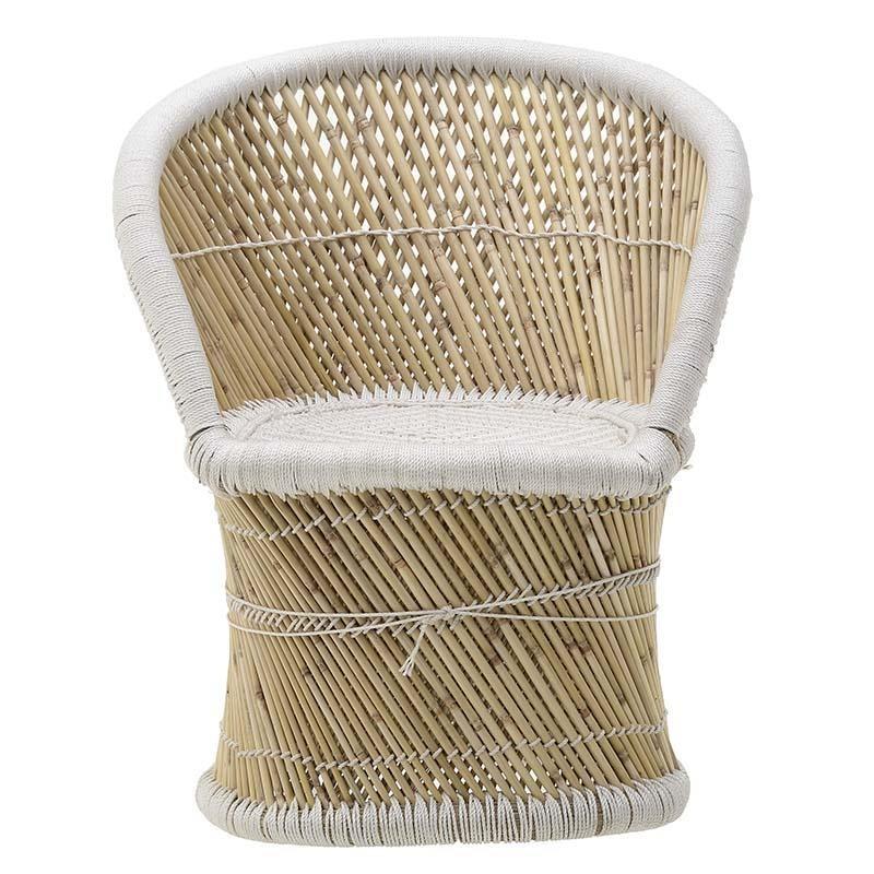 Бамбуково кресло в натурален цвят