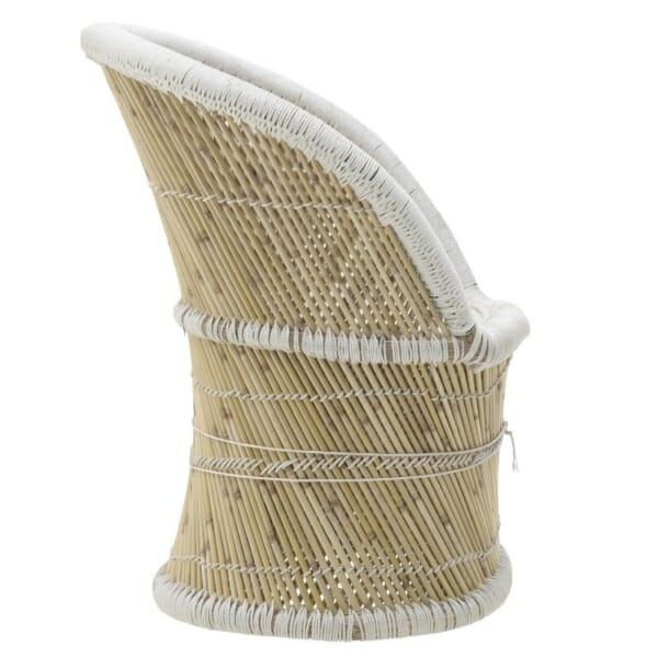 Бамбуково кресло - отстрани