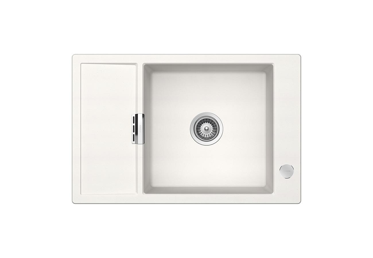 Бяла мивка от гранит SCHOCK Mono D100XS, цвят Polaris