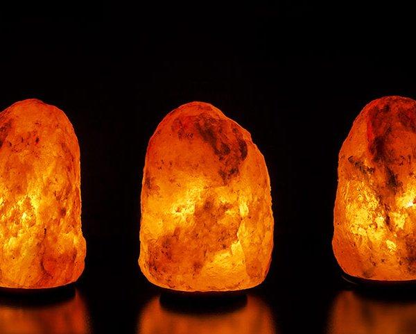 Декоративни лампи от Хималайска сол