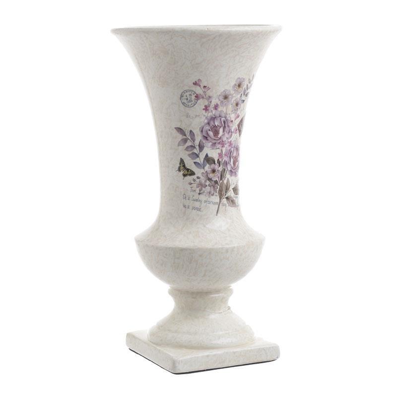 Керамична ваза с цветя