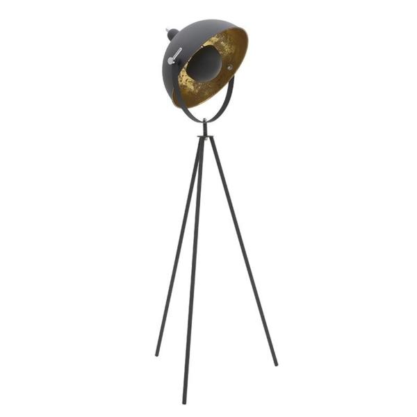 Метален лампион в черно и златно