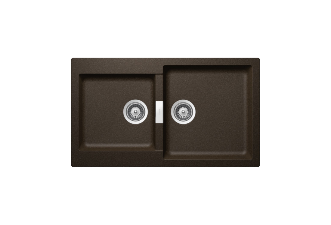 Мивка за кухня с 2 корита SCHOCK Signus N200, цвят Шоколад