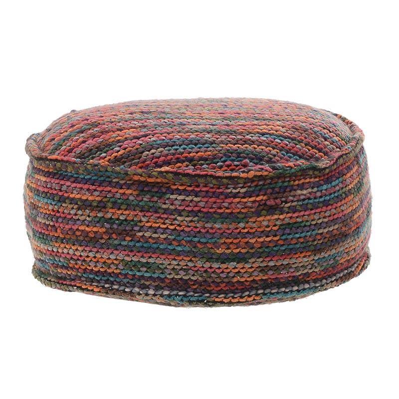 Многоцветна пуф табуретка