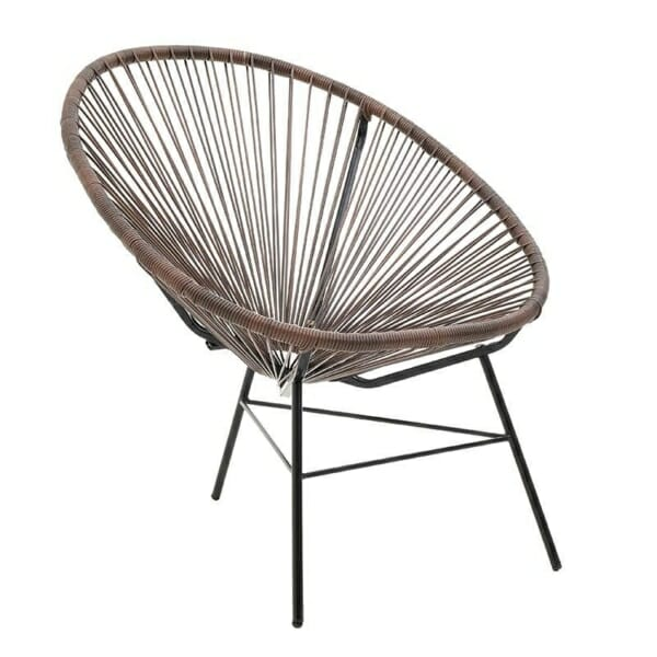 Модерен стол с нестандартна форма - кафяв