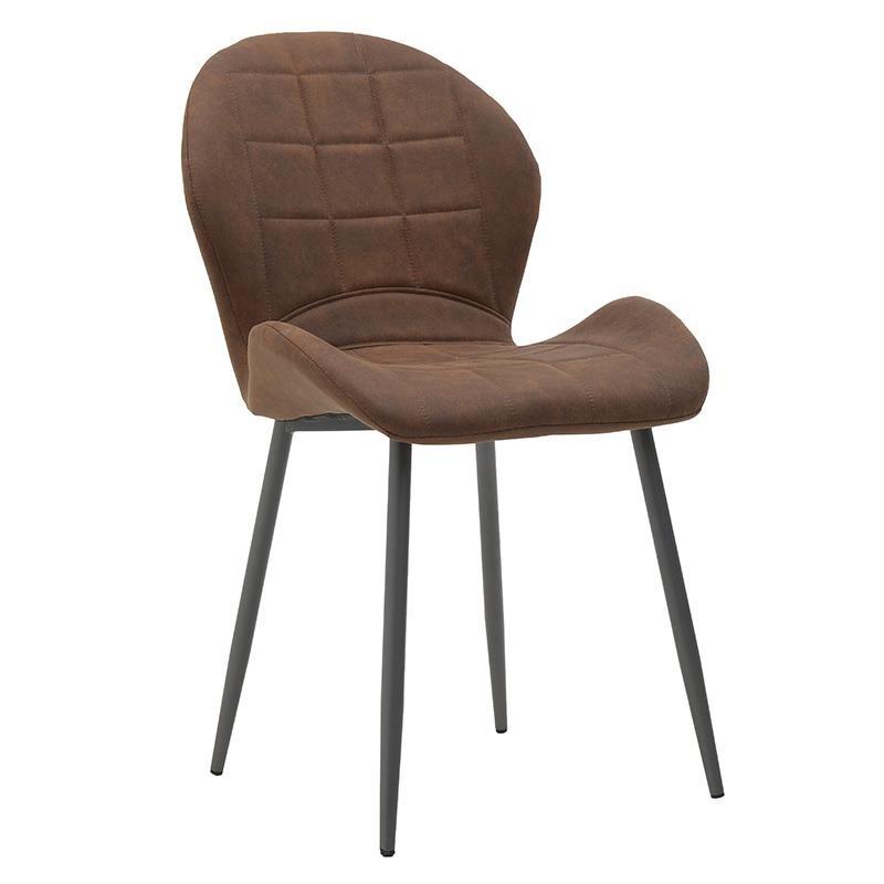 Модерен стол с извита седалка в кафяво