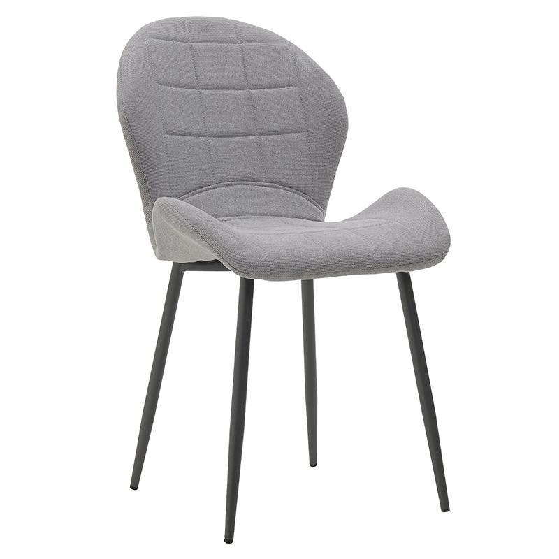 Модерен стол с извита седалка в сиво