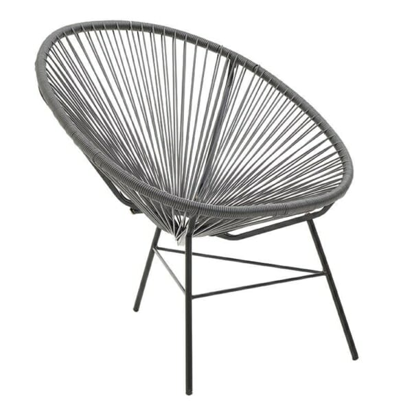 Модерен стол с нестандартна форма - сив
