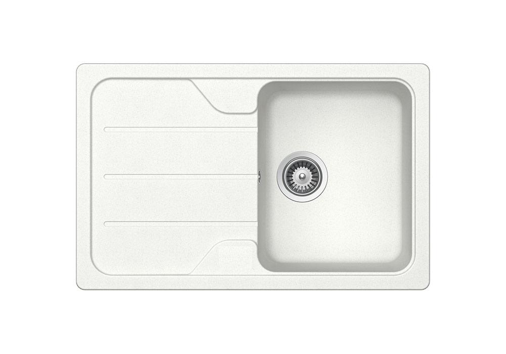 Модерна бяла мивка за кухня SCHOCK FORMHAUS D100S, цвят Alpina