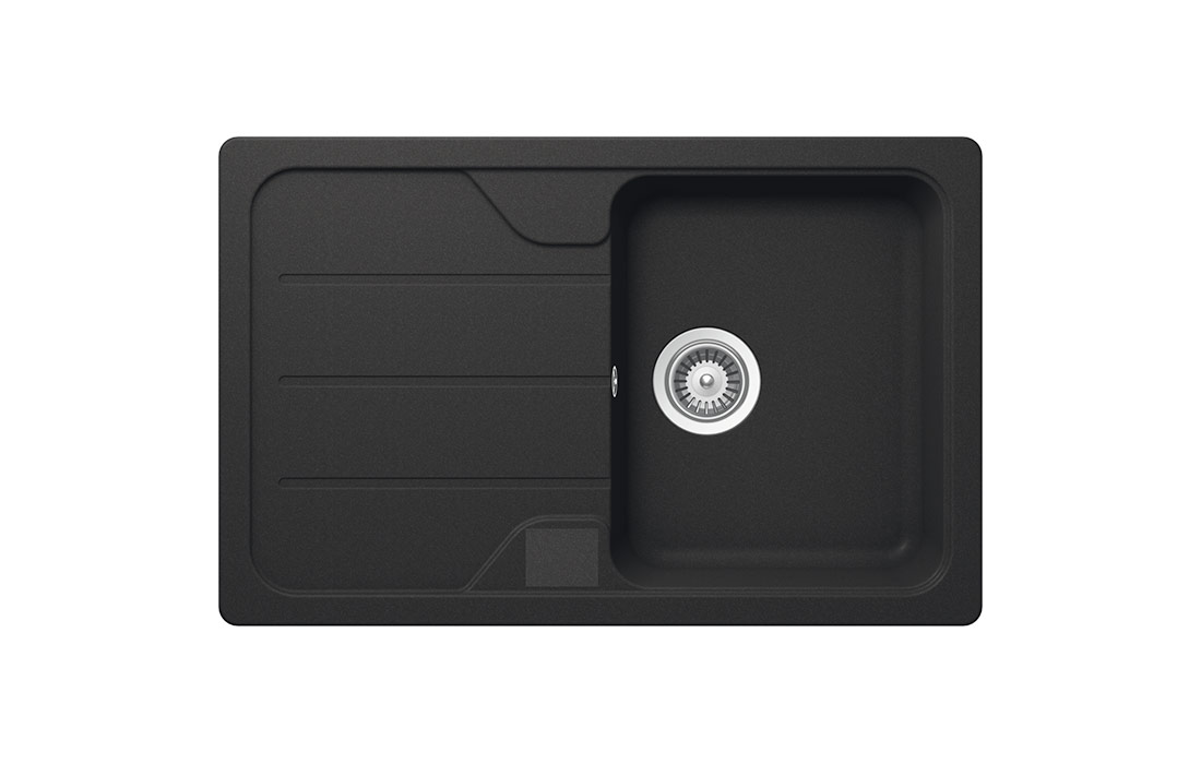Модерна черна мивка SCHOCK FORMHAUS D100S, цвят Onyx