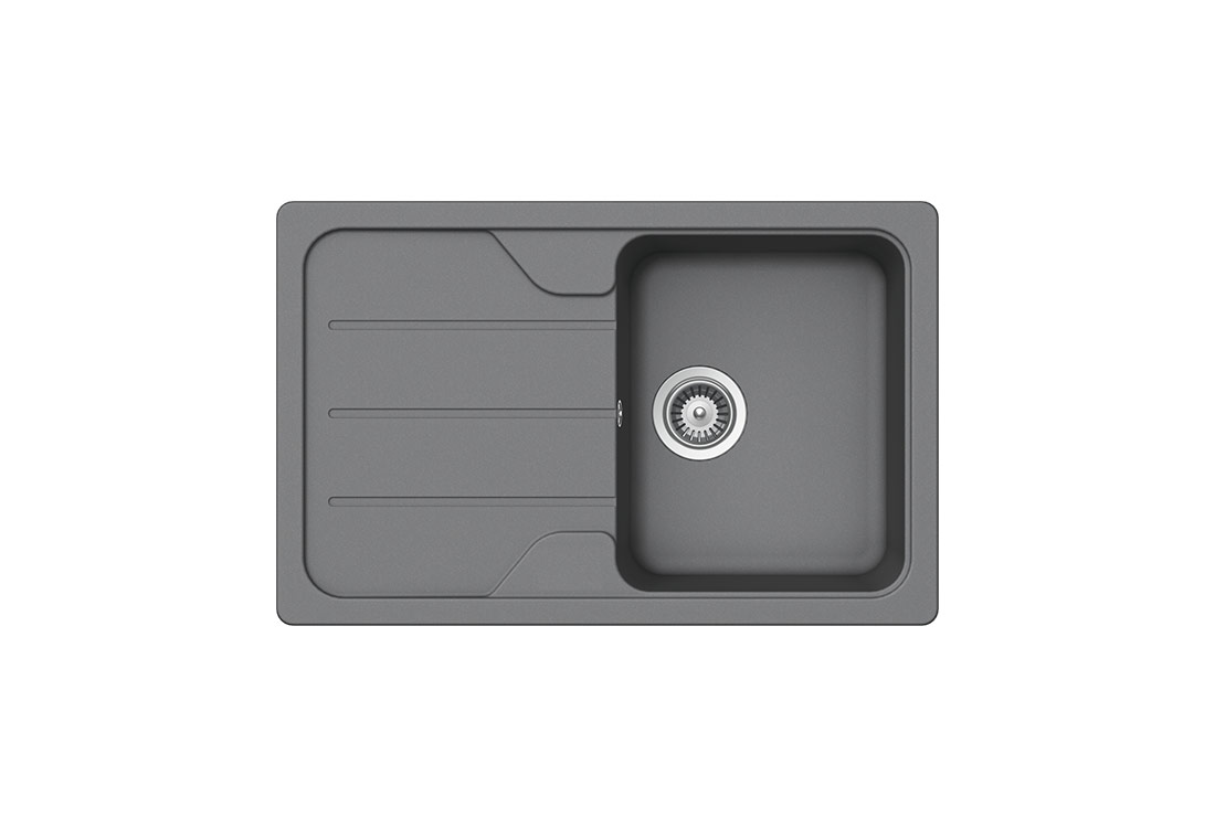 Модерна сива мивка SCHOCK FORMHAUS D100S, цвят Croma