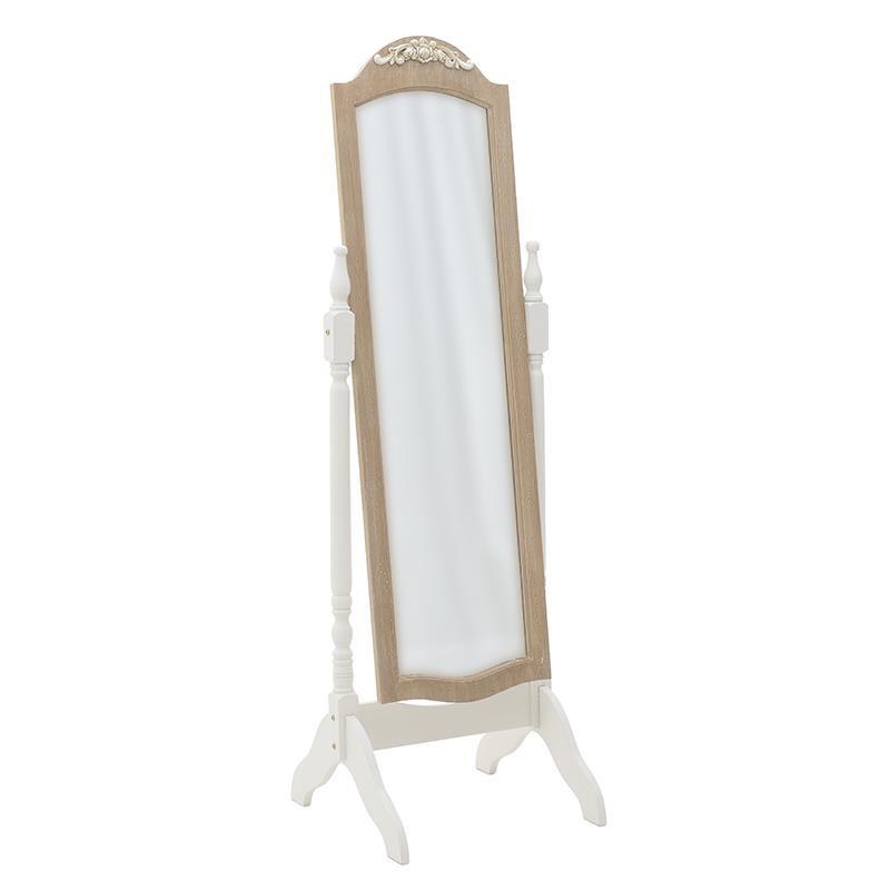 Свободностоящо огледало с дървена рамка
