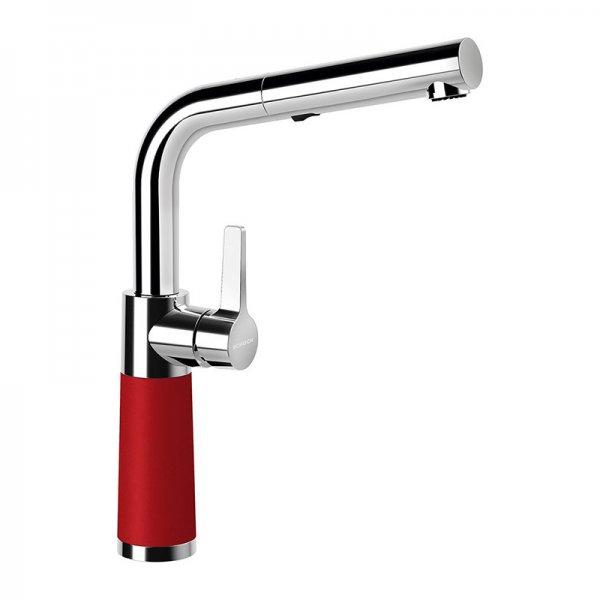 Червен смесител за кухня SCHOCK цвят Rouge, модел SC540