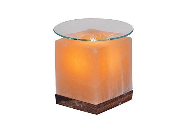Солна арома лампа във формата на куб