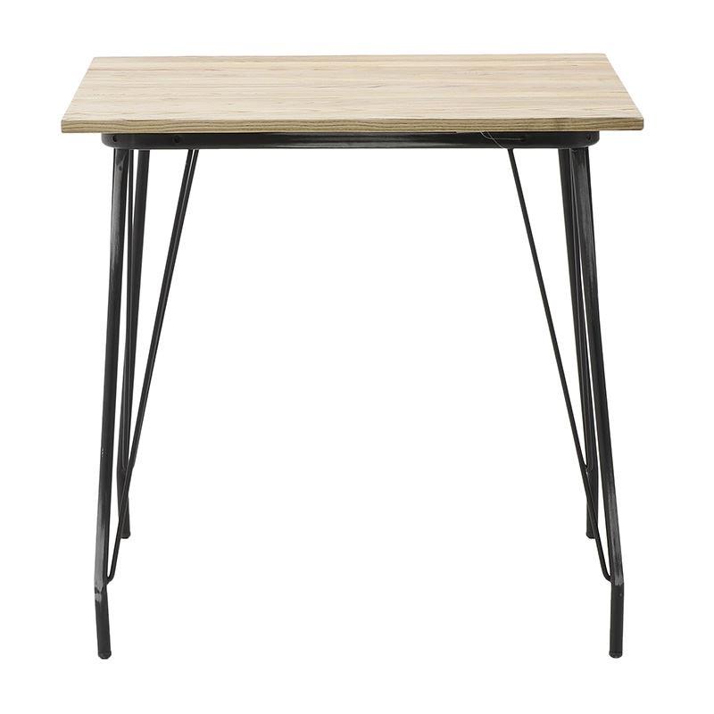 Трапезна маса с метални крака