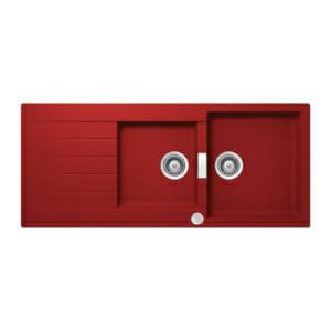 Червена мивка с 2 корита SCHOCK Signus D200